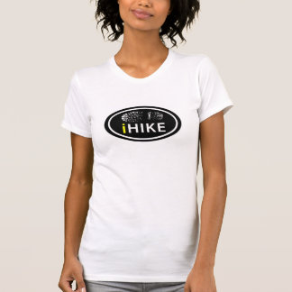 "Hiking ""iHIKE"" Oval Boot Print Tag Shirt"