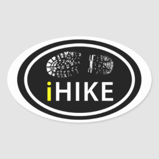 Hiking iHIKE Oval Boot Print Tag Stickers