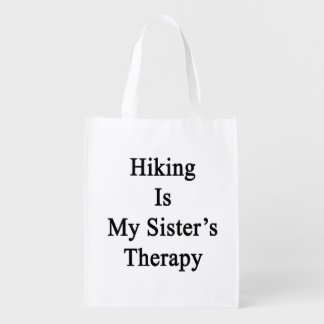 Hiking Is My Sister's Therapy Market Tote