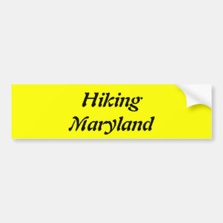 Hiking Maryland Bumper Sticker