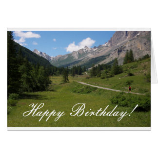 Hiking mountain trails card