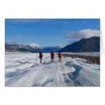 Hiking on the Llewellyn Glacier - blank inside Cards