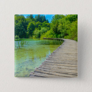 Hiking Path in Plitvice National Park in Croatia 2 Inch Square Button