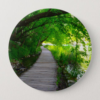 Hiking Path in Plitvice National Park in Croatia 4 Inch Round Button