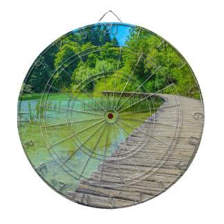 Hiking Path in Plitvice National Park in Croatia Dartboard