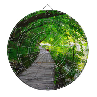 Hiking Path in Plitvice National Park in Croatia Dartboard With Darts