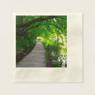 Hiking Path in Plitvice National Park in Croatia Disposable Napkin