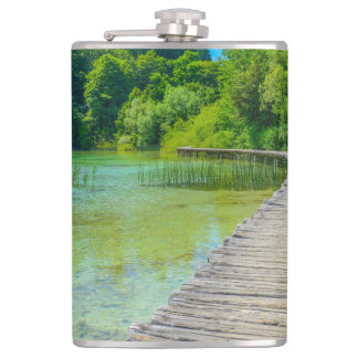 Hiking Path in Plitvice National Park in Croatia Flasks