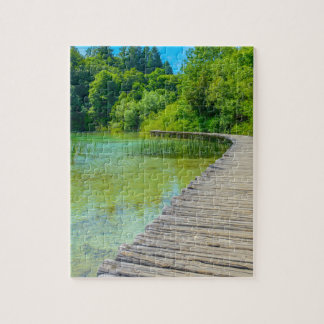 Hiking Path in Plitvice National Park in Croatia Jigsaw Puzzle