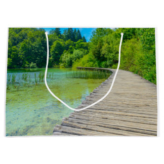 Hiking Path in Plitvice National Park in Croatia Large Gift Bag