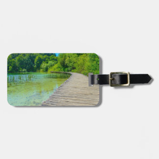 Hiking Path in Plitvice National Park in Croatia Luggage Tag