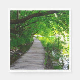 Hiking Path in Plitvice National Park in Croatia Paper Napkin