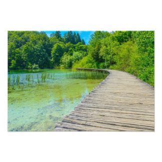 Hiking Path in Plitvice National Park in Croatia Photo Print