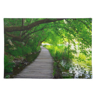 Hiking Path in Plitvice National Park in Croatia Placemat