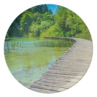 Hiking Path in Plitvice National Park in Croatia Plates