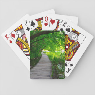 Hiking Path in Plitvice National Park in Croatia Playing Cards