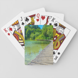 Hiking Path in Plitvice National Park in Croatia Poker Deck