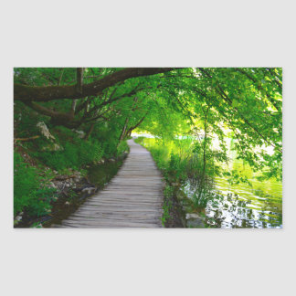 Hiking Path in Plitvice National Park in Croatia Sticker