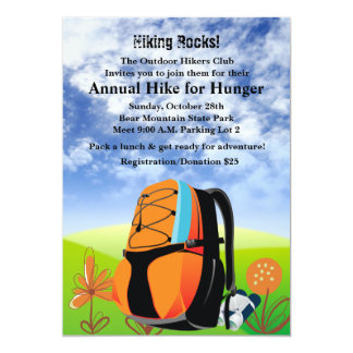 Hiking Rocks - Invitation