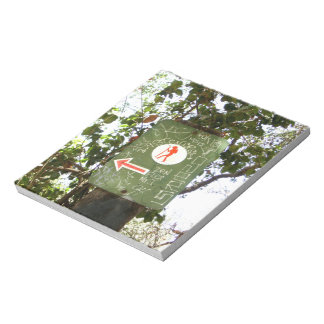 Hiking Sign Notepad