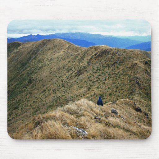 Hiking the Wild New Zealand Wilderness Mousepads