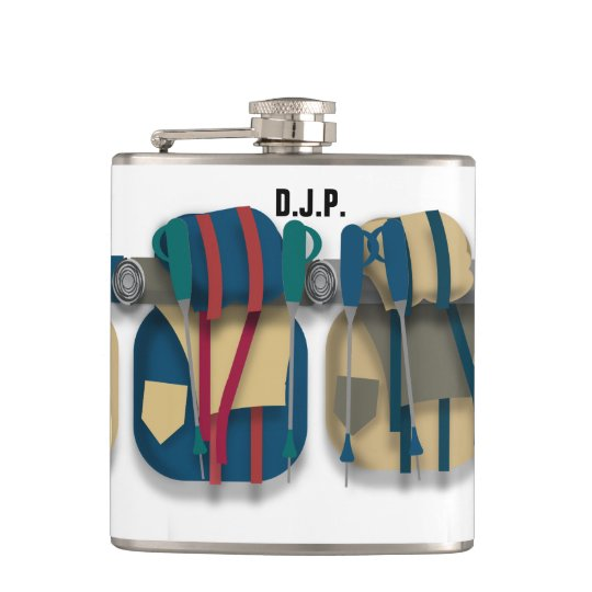Hiking Themed Hip Flask