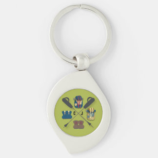 Hiking Themed Keychain