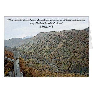 Hiking Through the Mountains 2 Thess 3:16 Card