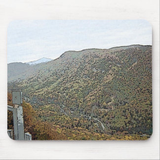 Hiking Through the Mountains Painted Mouse Pad