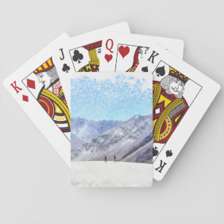 Hiking to the top poker deck