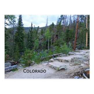 hiking trail in Colorado mountains Postcard