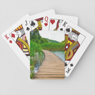 Hiking Trail in Plitvice National Park in Croatia Poker Deck