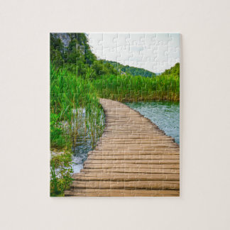 Hiking Trail in Plitvice National Park in Croatia Puzzle