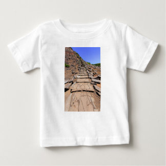 Hiking trail leading up the mountain on Madeira Baby T-Shirt