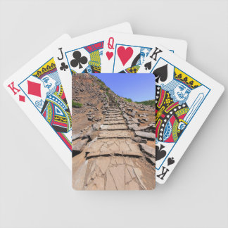 Hiking trail leading up the mountain on Madeira Bicycle Playing Cards