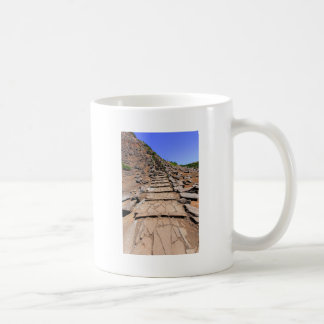 Hiking trail leading up the mountain on Madeira Coffee Mug