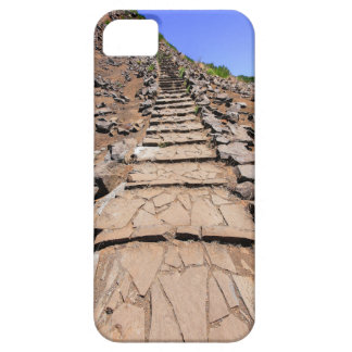 Hiking trail leading up the mountain on Madeira iPhone 5 Cases