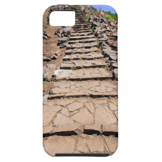 Hiking trail leading up the mountain on Madeira iPhone 5 Covers