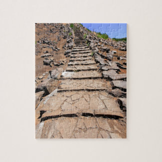 Hiking trail leading up the mountain on Madeira Jigsaw Puzzle