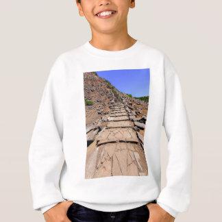 Hiking trail leading up the mountain on Madeira Sweatshirt