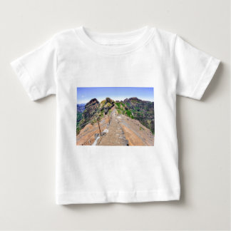 Hiking trail up in mountains on Madeira Portugal. Baby T-Shirt