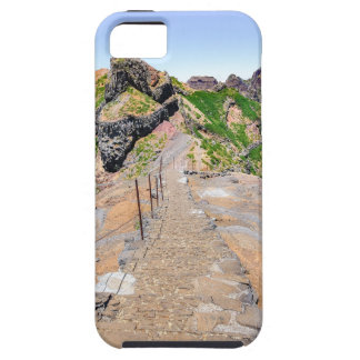Hiking trail up in mountains on Madeira Portugal. Case For The iPhone 5