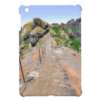 Hiking trail up in mountains on Madeira Portugal. Cover For The iPad Mini