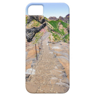 Hiking trail up in mountains on Madeira Portugal. iPhone 5 Cover
