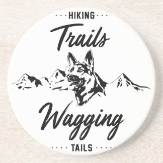 Hiking Trails Wagging Tails Coaster
