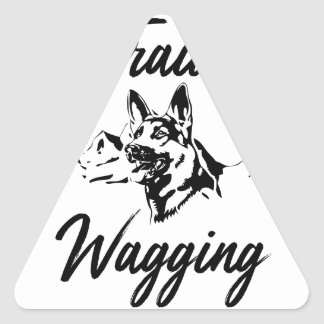 Hiking Trails Wagging Tails Triangle Sticker