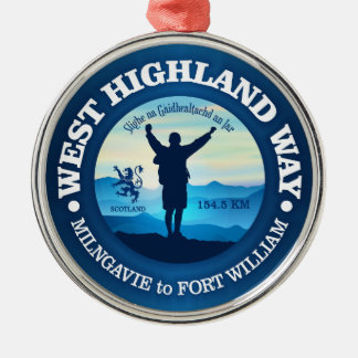 Hiking (West Highland Way) Metal Ornament