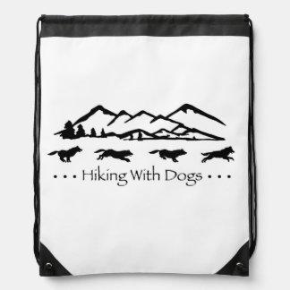 Hiking With Dogs SlingBag-Husky Drawstring Bag