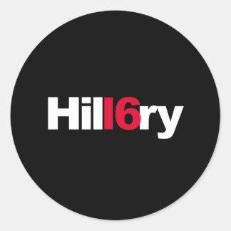 HIL16RY -- CLASSIC ROUND STICKER