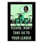 Hilarious anti Obama Greeting Card